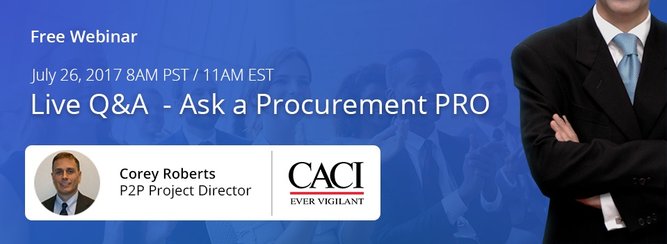 Live Q&A Webinar - Ask a Procurement Pro with Corey Roberts