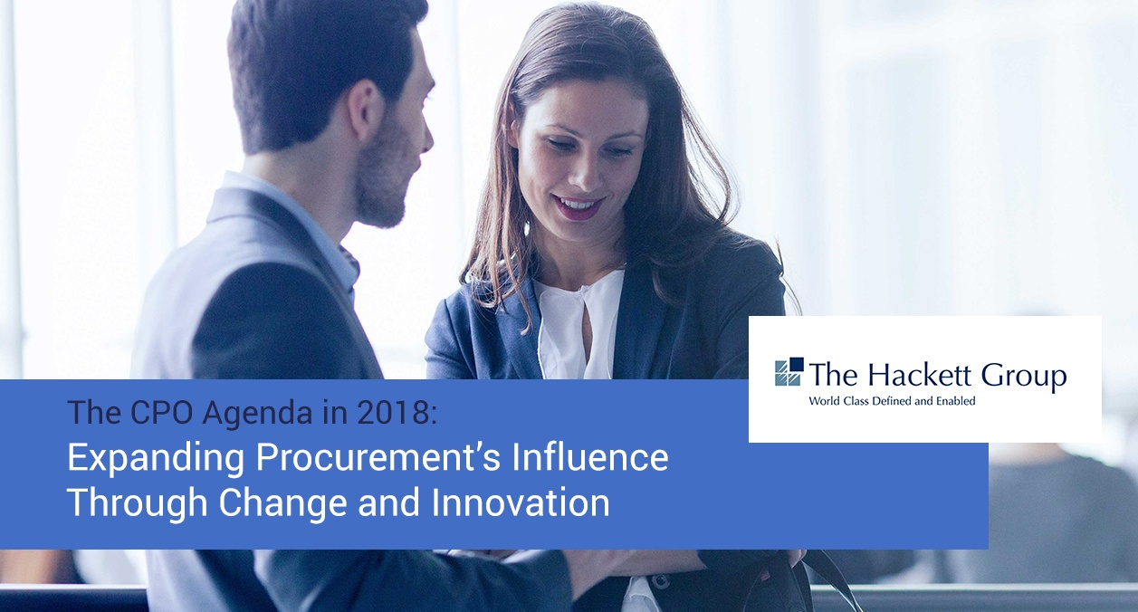 Top priorities for procurement organizations in 2018